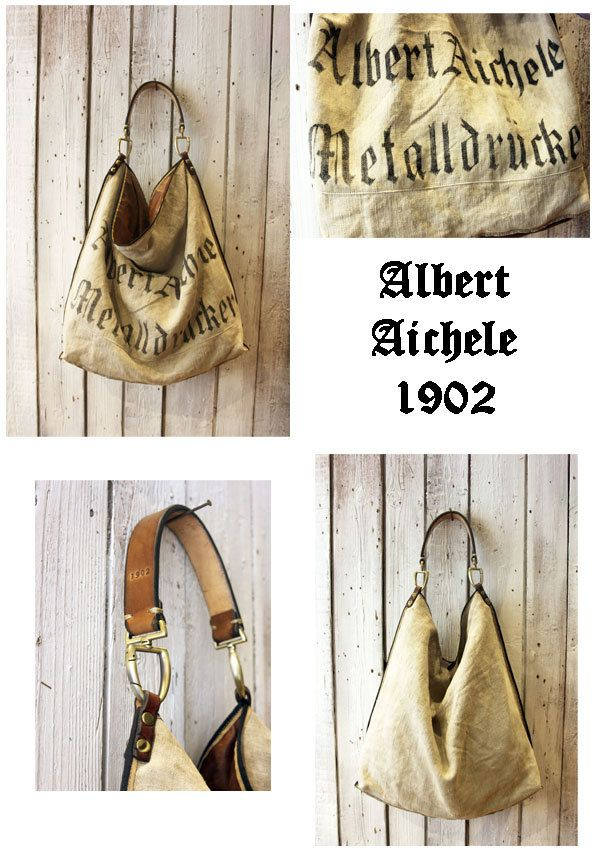 ALLEGRA Historical BAG Handmade old sac 1902 & Leather Shopping bag\tote di LaSellerieLimited su Etsy
