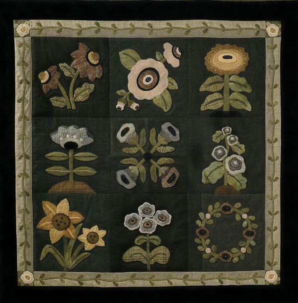 139 best images about Appliqué on Pinterest | Folk art, Wool and Quilt : wool applique quilt kits - Adamdwight.com