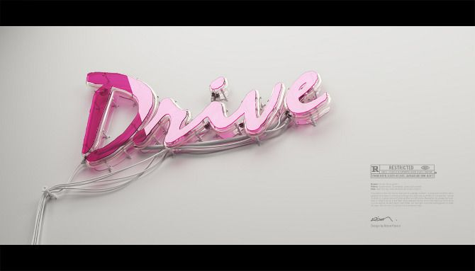 DRIVE neon design by Rizon parein.