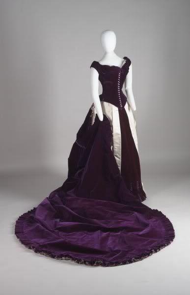 Worth evening dress, 1880