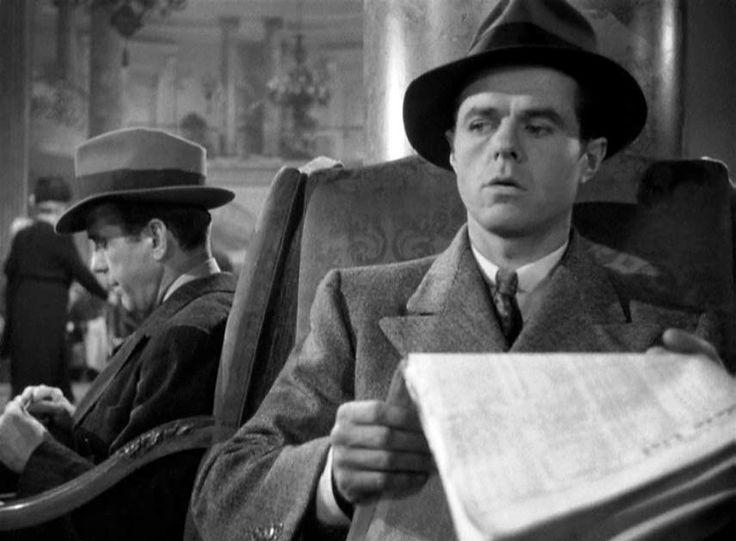 Humphrey Bogart (Sam Spade) and  Elisha Cook Jr. (Wilmer). The Maltese Falcon