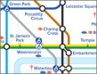 London Underground / Tube map detail. Copyright TfL visitlondon.com