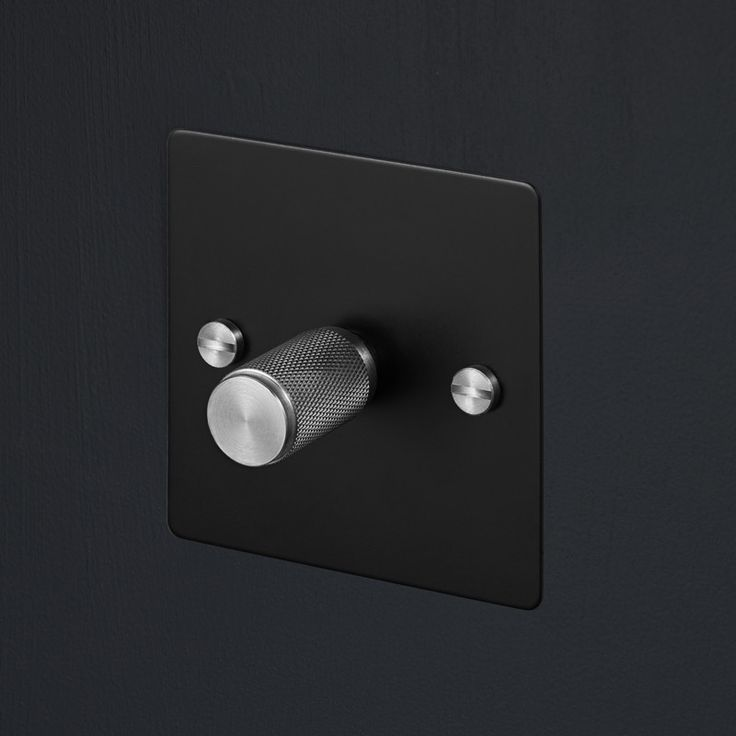 Light Switches - Black & Steel
