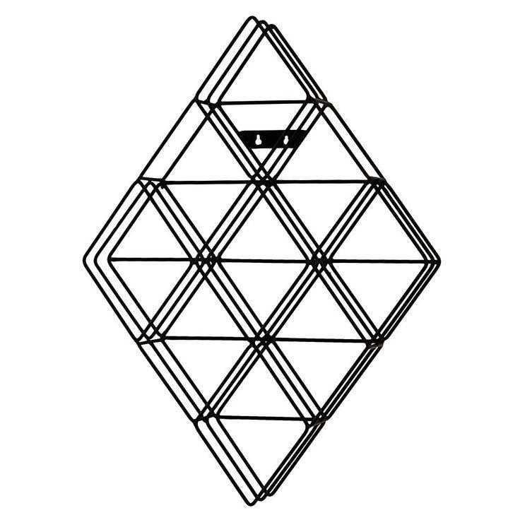 Home Marketplace Murphy Diamond-Shaped Wall-Mount CD Rack