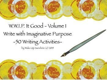 Imaginative Writing Bell Ringers - 50 W.W.I.P Activities