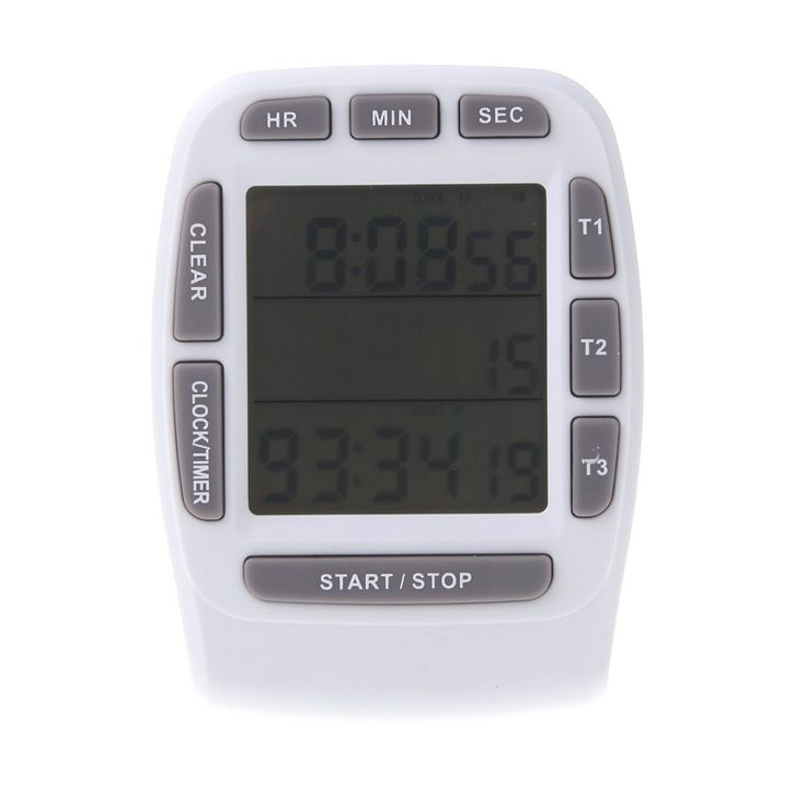 LCD Digital Alarm Timer with Triple Display 3-Line Timer Countdown Stopwatch