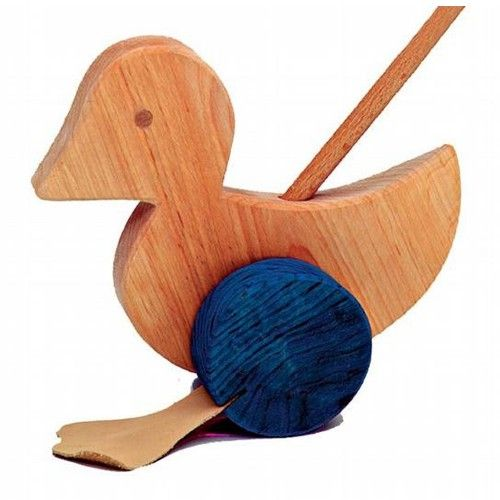 Wooden Duck Toddler Push Toy, for motor skill development ages 1+