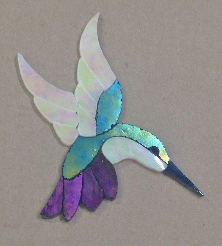 "PRECUT STAINED GLASS ART KIT LADY HUMMINGBIRD MOSAIC INLAY HANDCRAFTED 5""x 4"" | Crafts, Glass & Mosaics, Glass Art & Mosaic Supplies | eBay!"