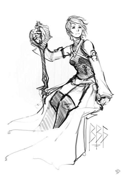 """ceruleanraven: """" Aqua! Quick sketch of my favorite keyblade wielder from the Kingdom Hearts series. """""""