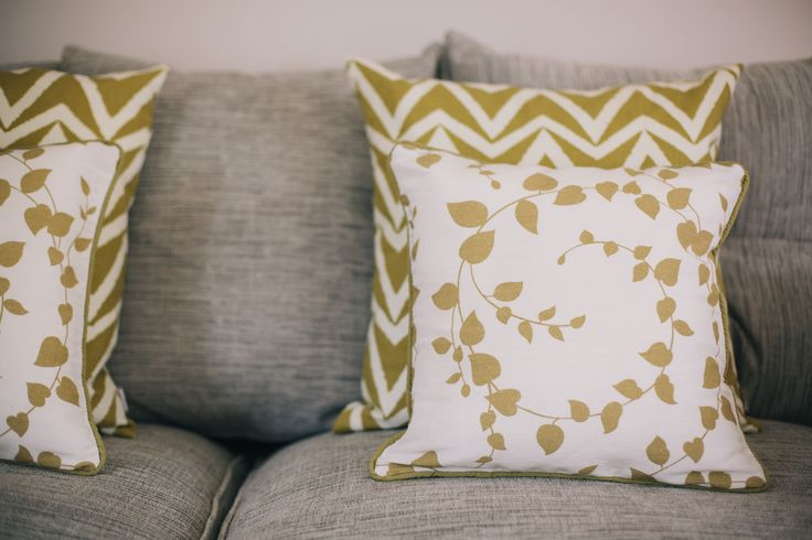 Create additional detail with contrasting bold textile prints