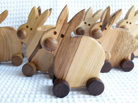Wooden eco friendly toy  BUNNY by toporko on Etsy, $14.00