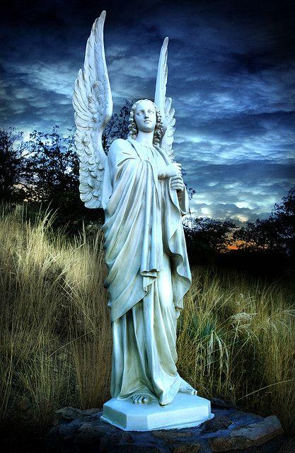 """angel on a hillside, sierra vista, az """"Our Lady of the SIerras""""  One of my favorite spots"""