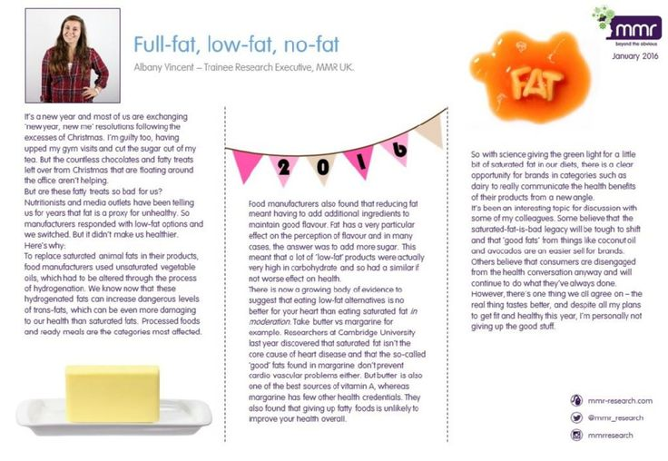 BLOG: Full-fat, low-fat, no-fat by Trainee Research Executive, Albany Vincent. Find out more at www.mmr-research.com/blog
