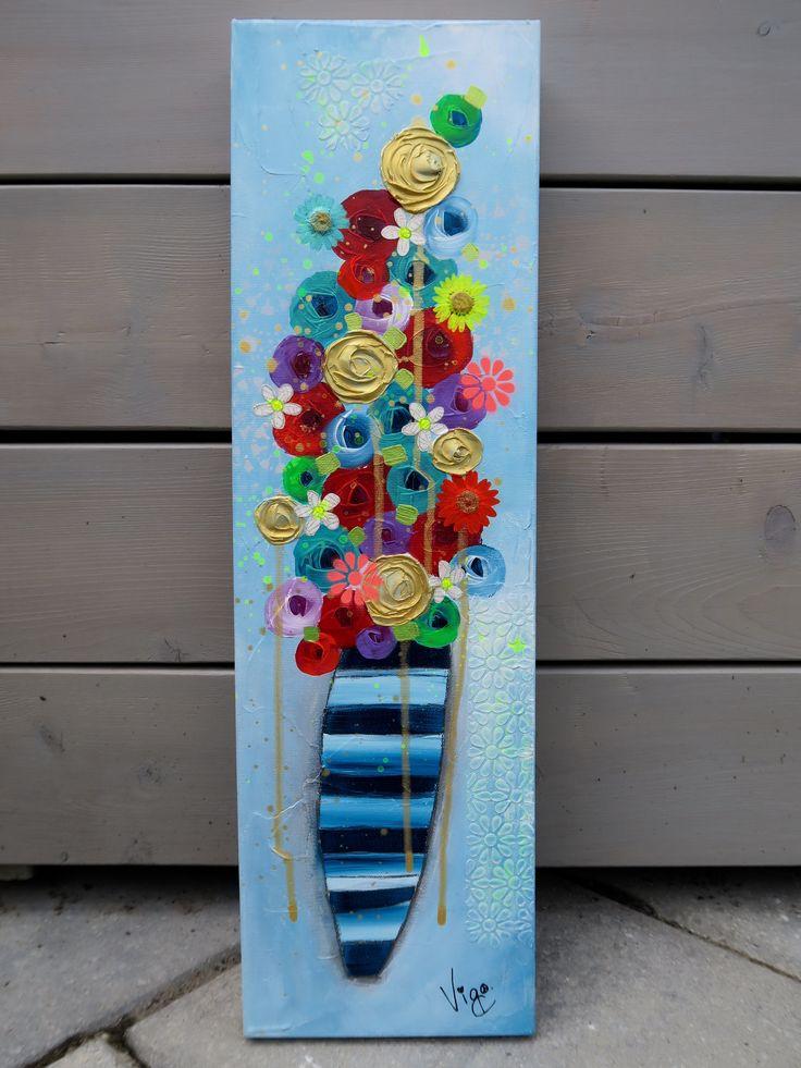 Flower painting, by Vigo