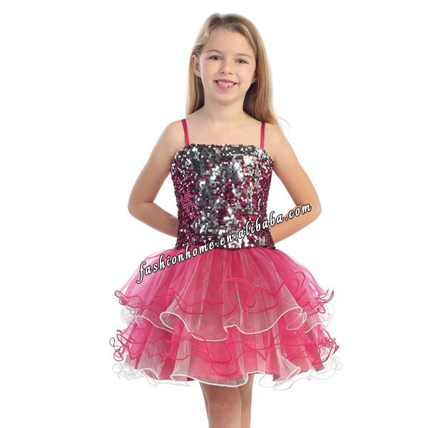 lastest dress designs Flower Girl party Dress for 7 years old fs07 ...