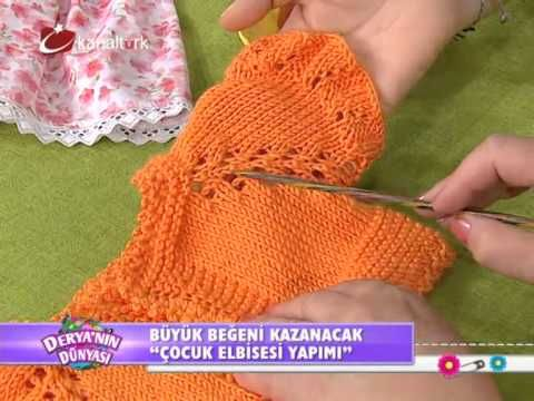 Çocuk elbisesi yapımı ...deryanın dünyası - YouTube