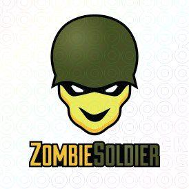 Exclusive Customizable Zombie Warrior Logo For Sale: Zombie Soldier   StockLogos.com