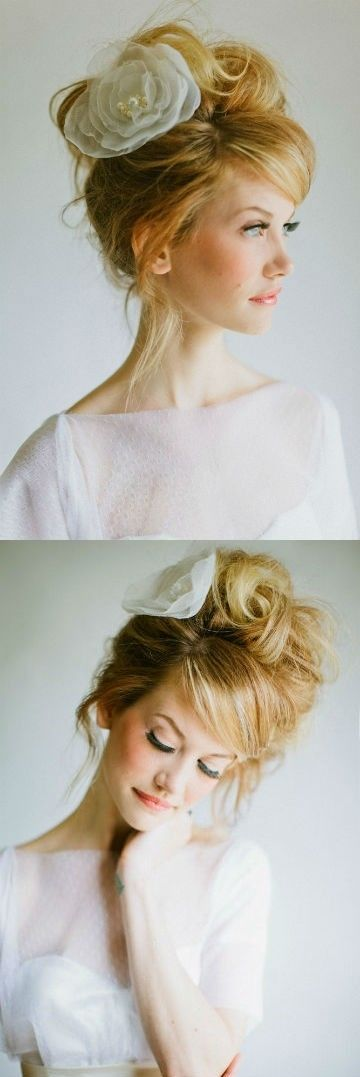 Messy wedding hair, im in love with this!!! <3