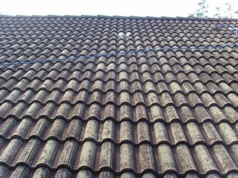 Travaux de peinture et demoussage sur une toiture, à Chambery (73)