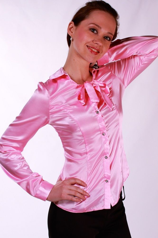 Fitted Tie Neck Blouse 17