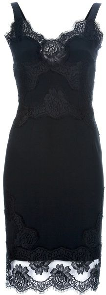 Lace Detail Dress  - Dolce and Gabana