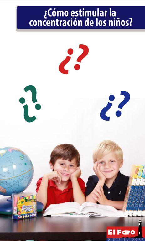 Estos son algunos consejos para que los niños tengan una mejor concentración y logren buenos resultados en su aprendizaje escolar.