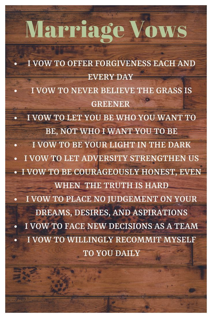 Seven years of Marriage   Marriage   Marriage vows ...