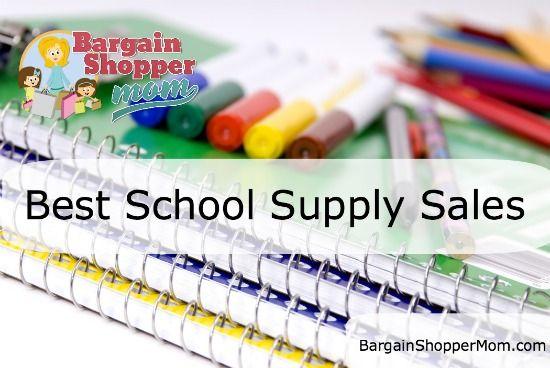 school supply sales - updated each week...