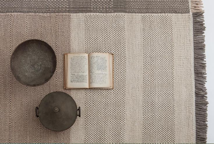 New Pearl colour of our TRES rug collection.