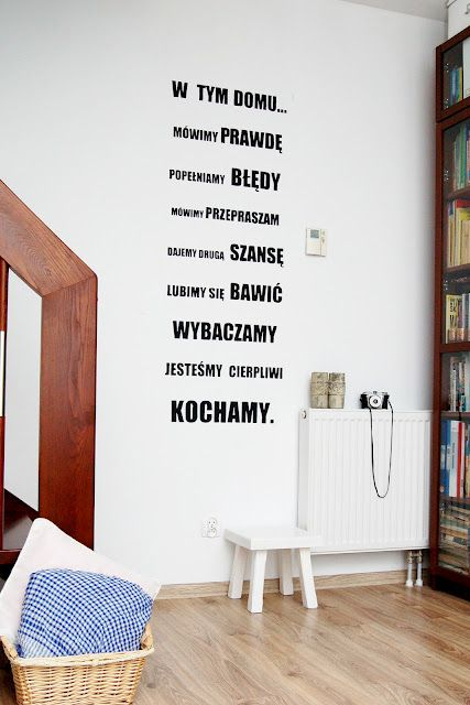 napisy na ścianę: Statement Wall, Wall Decor, Każdym Domu, Dla Domu, Tym Domu, Dreams House, Interiors Design, Moim Domu, Tell The Truths
