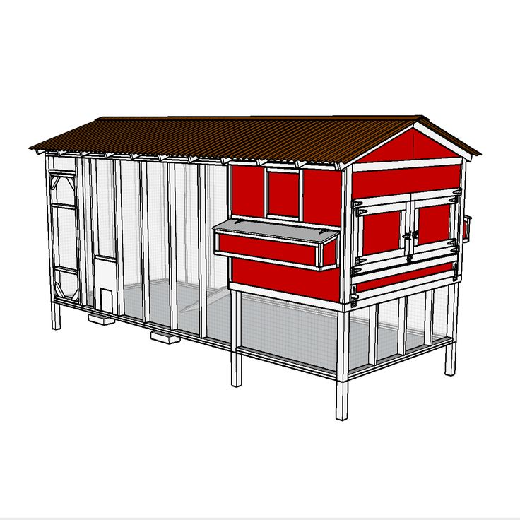 Click here for a full set of plans for building your own chicken coop. This is a detailed drawing package with easy to read instructions and clear images.