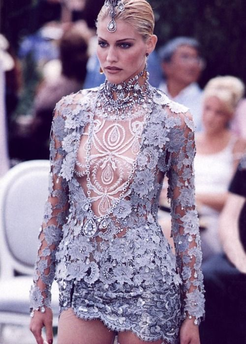 erytheis:    Tricia Helfer at Dior Fall Winter 1997 Haute Couture