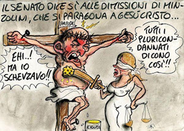 #Minzolini decaduto da #senatore  si paragona a #Gesù Cristo… #PD