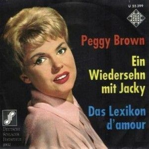 """Peggy Brown - """"Das Lexikon d´amour"""", german preselection for the Eurovision Song Contest 1962, place 6"""