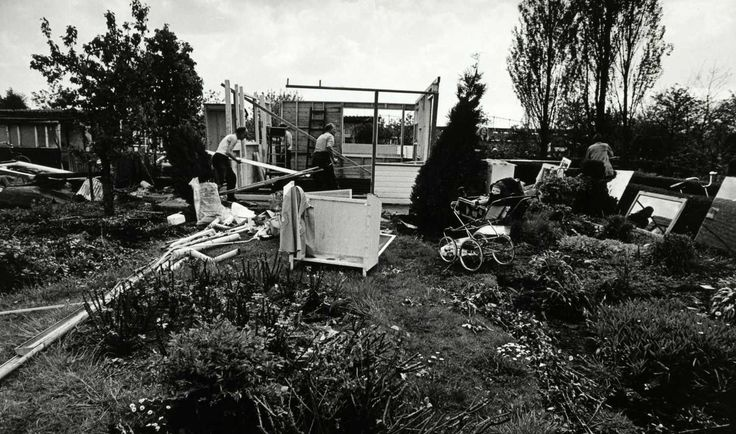 Afbraak Rust en Vreugd- 1973 .<br />Foto: Beeldbank Amsterdam