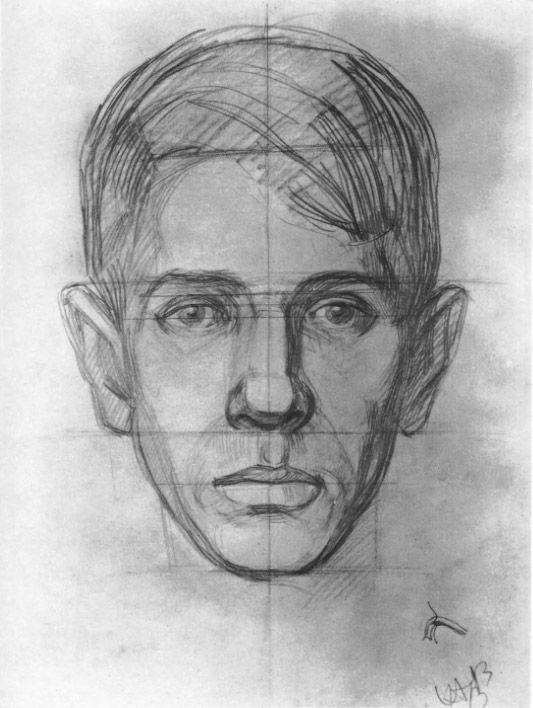 Рисование головы человека - Н. Н. Ростовцев | Метод анализа и изображения обобщенной формы головы - часть третья