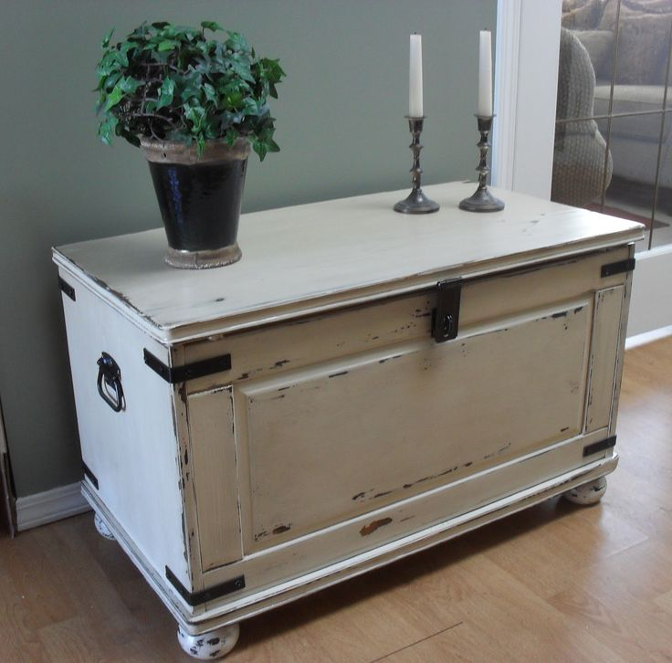 I bought this pine chest from a local thrift store for $19.00.  It is a little beat-up but has alot of potential.           I decided that I...