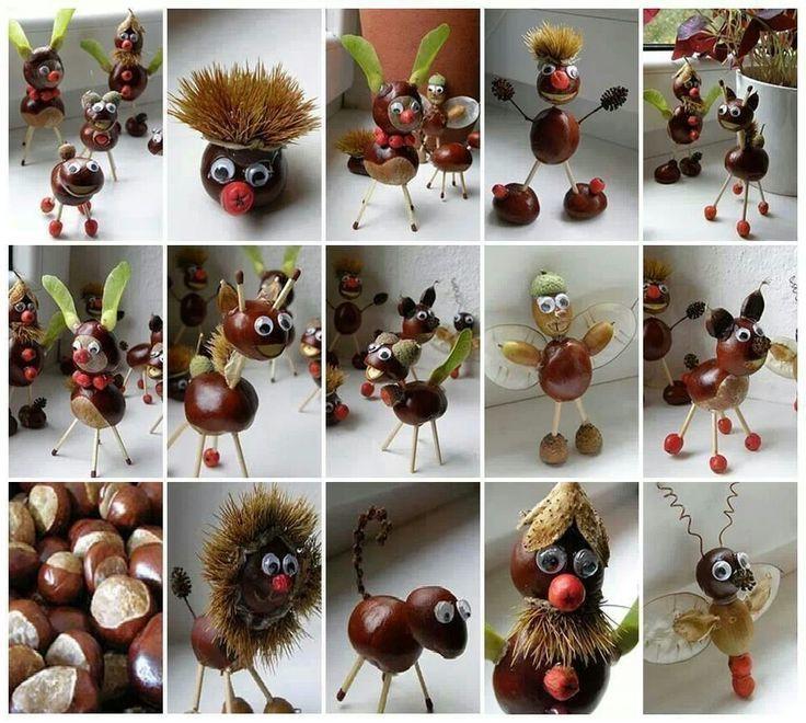Von Kastanienmännchen bis zu Kastanientieren - holen Sie sich kreative Ideen von unseren Beispielen!