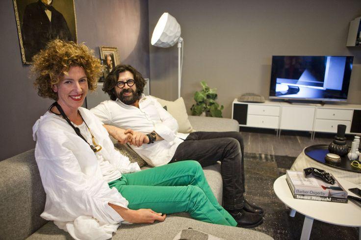 Innred med TV-en, ikke rundt den, sier stylist- og fotografene Jannike Kråkvik og Allessandro D'Orazio. Foto: Per Ervland