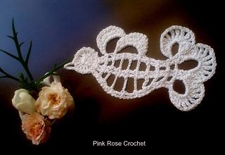 PINK ROSE CROCHET ..bird