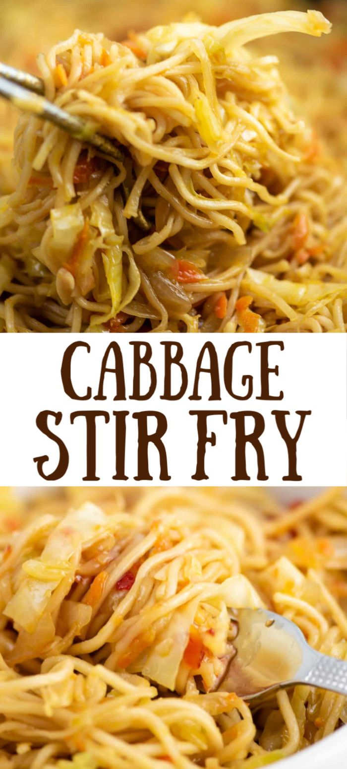Ramen Noodle Cabbage Stir Fry With Sweet Chili Sauce Dinner