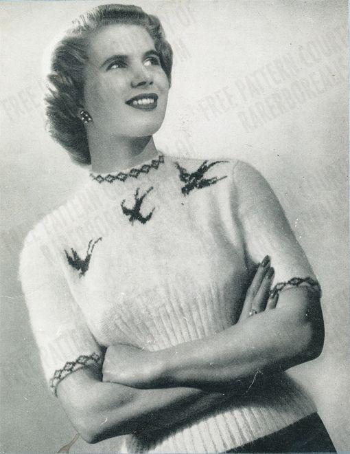 Free #vintage #angora #sweater pattern