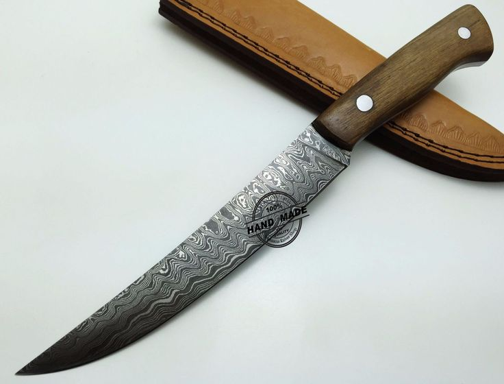 Damascus Kitchen Knife Custom Handmade Damascus Steel