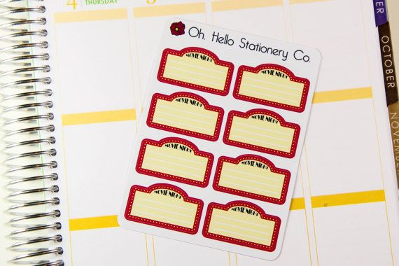 8 Movie Marquee Stickers Planner Stickers by OhHelloStationeryCo