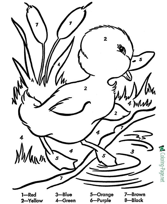 Color By Number Worksheets Coloring Pages Easter Coloring Pages