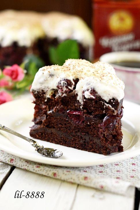 Шоколадный торт с вишней рецепт с фотографиями