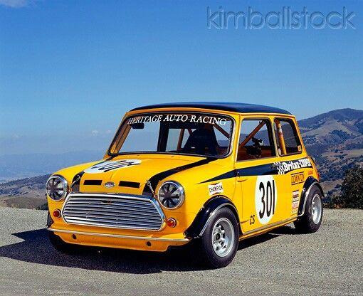 yellow Mini race car