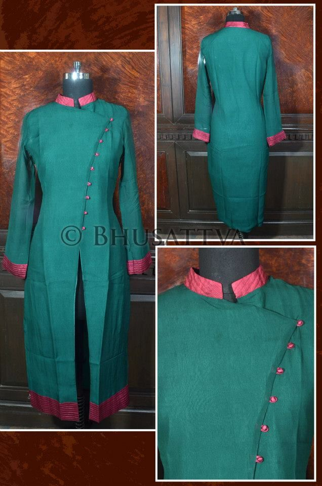 Certified ‪#‎organic‬ natural dyed hand crafted women's ‪#‎kurta‬ with pintucked collar. cuff and overaping at the center. BhuSattva - True Essence of Earth (www.bhusattva.com) #‎organicclothing‬ ‪#‎responsibleluxury‬ ‪#‎pret‬ ‪#‎handembroidered‬ ‪#‎sustainablefashion‬ ‪#‎ecofashion‬ ‪#‎handcrafted‬ ‪#‎handwoven‬ ‪#‎womenswear‬ ‪#‎couture‬ ‪#‎menswear‬ ‪#‎indowestern‬ ‪#‎organicfashion‬ ‪#‎madeinindia‬ ‪#‎designerwear‬ ‪#‎indiantextiles‬ ‪#‎handblockprinting‬ ‪#‎bhusattva‬
