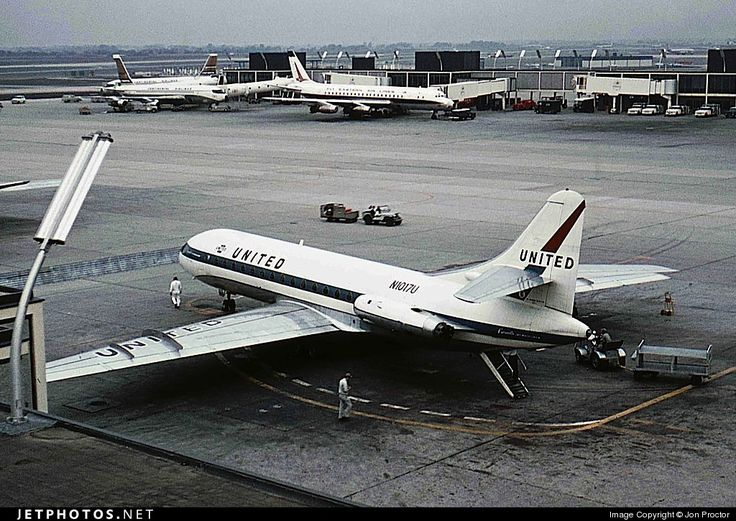 United Airlines Sud Aviation SE 210 Caravelle