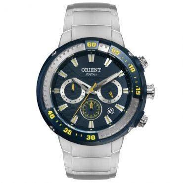 Ricardo Eletro Relógio Masculino Orient Cronógrafo, Pulseira de Aço,Caixa 4,9 cm, Resistência a água R$ 256,40